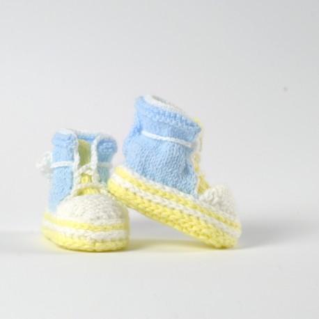 Buciki Trampki niemowlęce Hand Made Ręcznie robione chłopczyk